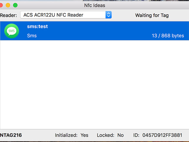 Använda NFC-läsaren ACR122U